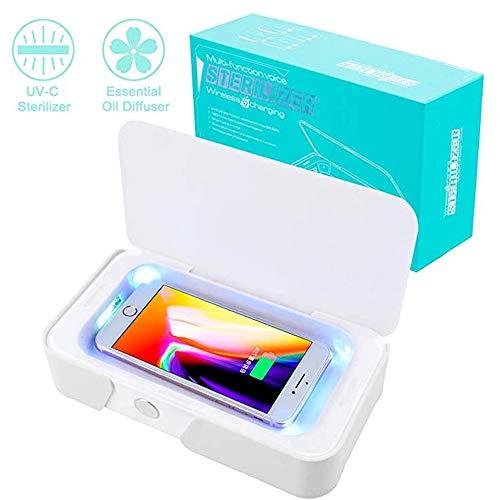 LABYSJ Smartphone-Desinfektionsgerät UV-Desinfektionsmittel/Kabelloses Ladegerät Für Das Telefon Multifunktions-Handyreiniger Sterilisatorbox Tragbare Zahnbürste Schmuckuhr