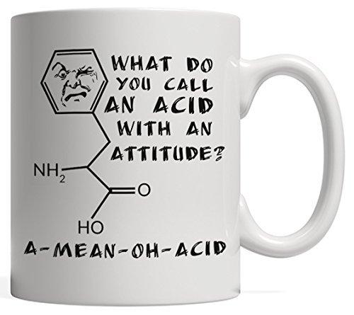 Una Taza de Ciencia Divertida de Romper con un Pan de ácido Medio – un Gran Regalo para tu Profesor de física, química o biología.
