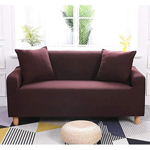 Funda elástica impermeable para sofá (235 x 300 cm), color marrón