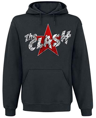 The Clash Star Logo Männer Kapuzenpullover schwarz XL 50% Baumwolle, 50% Polyester Band-Merch, Bands