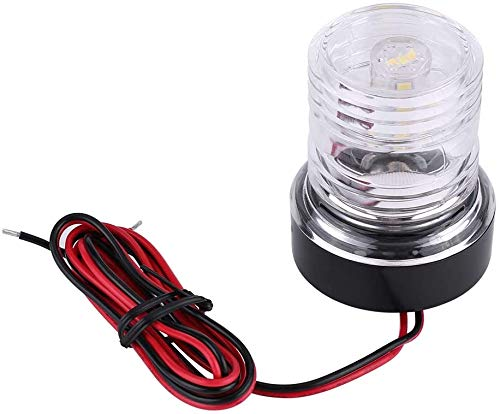 Geloo 12 V Bootsanhänger-Licht, Marine Boot Navigationsleuchte, Segel-Signal-Licht, rundum, 360 ° wasserdicht, Bogen-Licht, Anker Licht