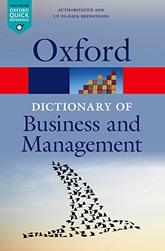 A Dictionary of Business and Management (Oxford Quick Reference) (English Edition)