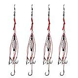 Dyxssm Trap Fishing Hooks Carp Fishing Baits Hook Lure with Fishing Spring Carp Feeder (Pack of 4) (6#)