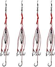 Dyxssm Trap Fishing Hooks Carp Fishing Baits Hook Lure with Fishing Spring Carp Feeder (Pack of 4) (9#)