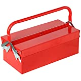 Bandeja Voladizo Caja De Herramientas 3de metal rojo maletn para...
