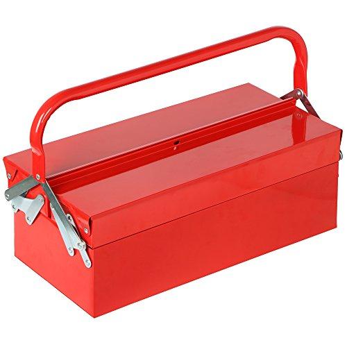 Bandeja Voladizo Caja De Herramientas 3de metal rojo maletín para herramientas de...