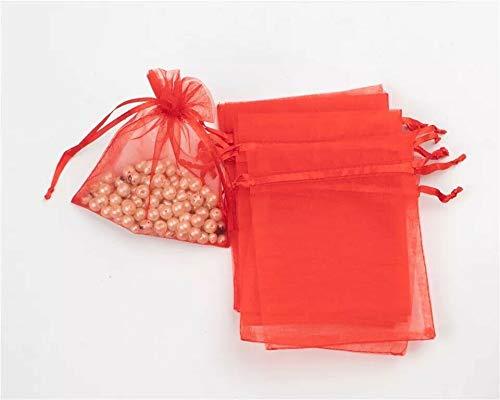 EliteKoopers - Bolsa de organza de 10 x 15 cm, para regalo de boda, fiesta, bolsa de cordón