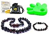 Collar de Ambar 33cm + Pulsera (14cm) - De la Máxima Calidad Certificado Genuino Collar de Ámbar Báltico/Rápido Entrega / 100 Días de Garantía de Devolución de Dinero! (Cherry)