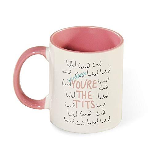 11oz Coffee Mug You're The Tits Funny Tea Coffee Cup Two Tones Mugs Birthday Present