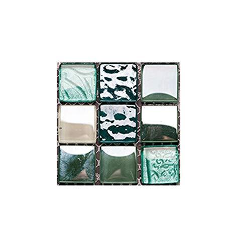 SPFOZ Haus Dekoration 10pcs Küchen-Wand-Aufkleber Fliesenaufkleber Wasserdichtes Selbstklebendes 3D-Mosaik-Aufkleber PVC-Aufkleber-Ausgangsdekor-Zubehör (Color : 51)