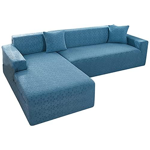 NLCYYQ - Copridivano in pile elasticizzato per divano e divano con braccioli in tessuto jacquard, antiscivolo, per soggiorno, 81-121 cm, colore: Blu