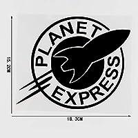 秋の水と風 18.3cm * 15.2cmの惑星表現芸術的な言葉ビニール車デカールアクセサリーブラック/シルバー4a-0236 (Color Name : Black)
