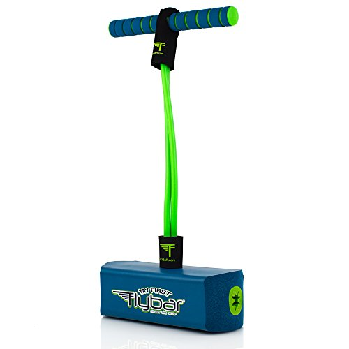 Flybar My First Foam Pogo Jumper for Kids Fun and Safe Pogo Stick, Durable Foam and Bungee Jumper for Ages 3 and up Toddler Toys, Supports up to 250lbs (Blue) (MFF-R)