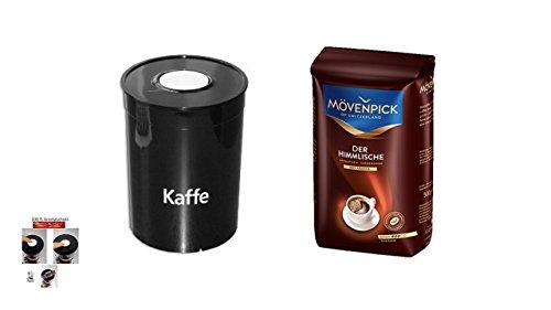 Mövenpick Cafe Bohnen 500g + Fresh Aroma Kaffeedose entriegel und veriegeln per einfachen Knopfdruck Cafe Aromadose
