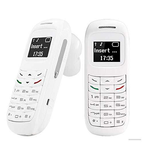 L8STAR BM70 3 en 1 Mini teléfono móvil de plástico Mini, 16 g … (Blanco)
