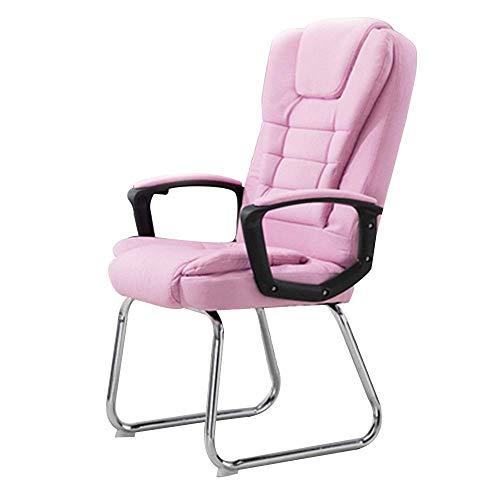 Life Equipment Chaise d'ordinateur confortable Chaise de bureau de bureau de style course Coussin de siège double Design Chaise de jeu en tissu ergonomique Pied d'arc Chaise d'ordinateur de bureau