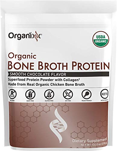 Organixx: Bone Broth Protein Smooth Chocolate | Amazon