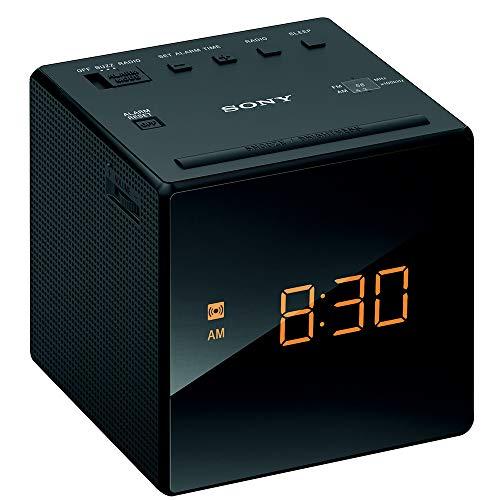 ソニー クロックラジオ ICF-C1 : FM/AM/ワイドFM対応 おやすみタイマー ブラック ICF-C1 B