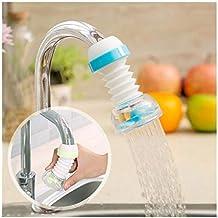 SHOPPOWORLD Anti-Splash Expandable Head Nozzle Bathroom Tap Adjustable Splash Sprinkler Head Sprinkler Water Saving Device Faucet Regulator (Multi Color)