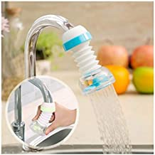 SHOPPOSTREET Anti-Splash Expandable Head Nozzle Bathroom Tap Adjustable Splash Sprinkler Head Sprinkler Water Saving Device Faucet Regulator (Multi Color)