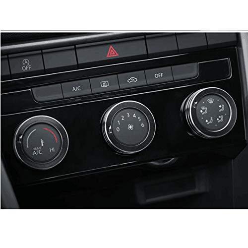 car-styling Air conditioning knob decorative cover trim for Tiguan Atlas t-roc t roc 2017 2018 Zierleisten Zubehör (black)