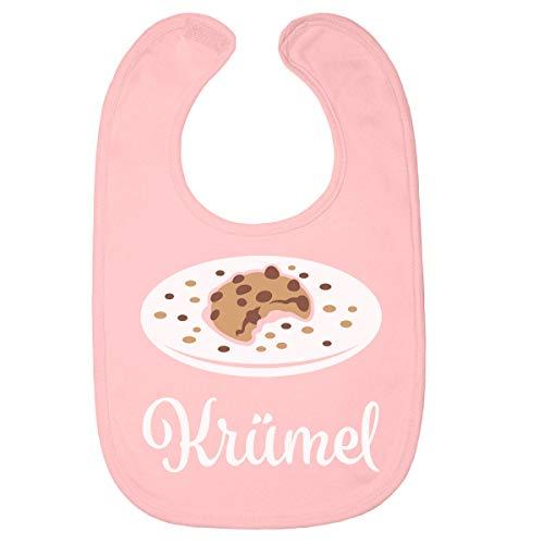 Shirtgeil Babylatz Krümel Keks als Geschenk für Neugeborene Baby Lätzchen One Size Rosa