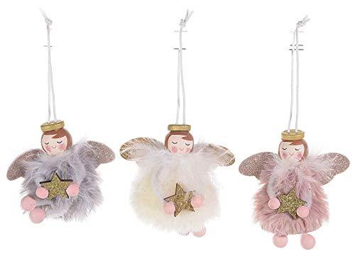 Gruppo Maruccia Angioletti da Appendere per Albero di Natale Set da 12 Pezzi