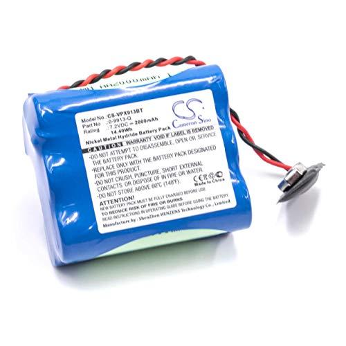 vhbw NiMH Akku 2000mAh (7.2V) für Alarmanlage Alarm Control Home Security wie Visonic 0-9913-Q