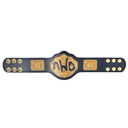 WWE Authentic Wear NWO Spray Paint WCW Championship Mini Replica Title Belt Black