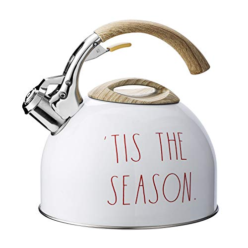 Rae Dunn Collection Holiday Tea Kettle- by Cook with Color (White)