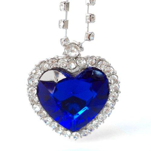 """Dp Design® Kette mit Anhänger, """"Herz des Ozeans"""", inspiriert von """"Titanic"""", mit Strasskristallen"""