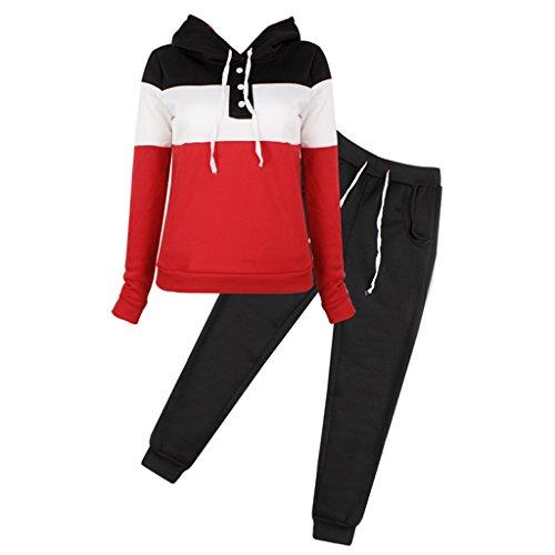 KINTRADE Mujer Casual Chándal Sudadera con Capucha Sudadera Pantalones Suéter Jogger Trajes Conjunto