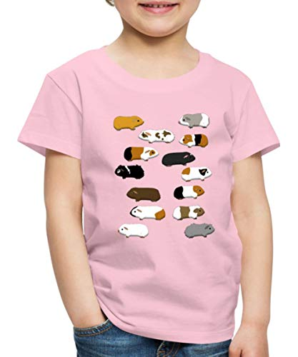 Meerschweinchen Kinder Premium T-Shirt, 122-128, Hellrosa