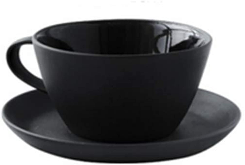 Xiaohonghong Tasse à café de Style Nordique Tasse à café créative Gommage Noir