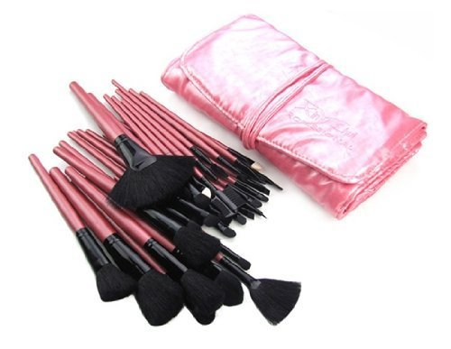 Finding Color 32 Wool Cosmetic Makeup Brush Set (Pink)