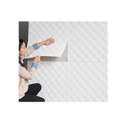Papel Tapiz 3D Fondo moderno de la televisión Decoración creativa 3D Papel tapiz de mosaico 3D imitación azulejos de ladrillo pegatina de espuma de ladrillo 70 * 70 cm DIY Cubierta de pared de espesam