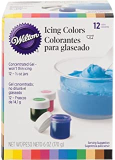 Wilton .5 oz. Icing Colors Assorted Colors 12 ct. 601-5580