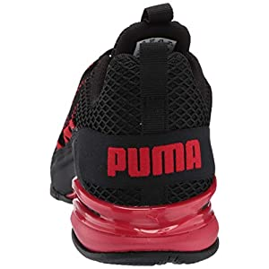 PUMA mens Axelion Spark Cross trainer, Black/High Risk Red, 10.5 US