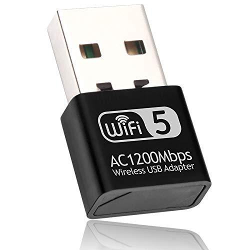 XVZ WLAN Adapter, AC1200 Dual Band WLAN Stick (USB 3.0,802.11ac,2.42GHz/300Mbit/s 5.8GHz/866Mbit/s,unterstützt Windows 10/8.1/8/7/XP,Mac OS X)