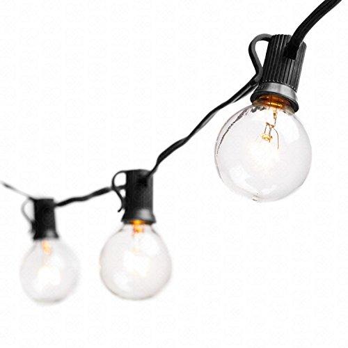 BACKTURE Cadena de Luces, Impermeable Guirnaldas luminosas de Exterior con 16 LED Bombillas y 2 Bombilla de Repuesto, Cadena de Bombillas Perfecto para Jardín Patio Trasero Fiesta Navidad, 6.8M
