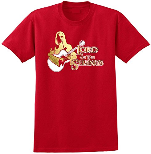 Musicalitee Acoustic Guitar Lord Strings Gandalf - Red Rot T Shirt Größe 137cm 55in 4XL