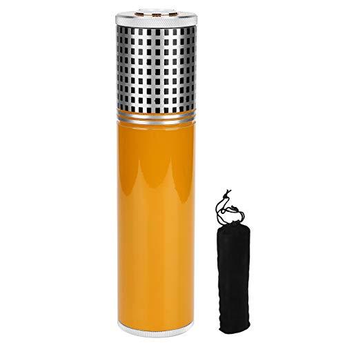 Changor Tragbares Zigarettenetui, mit Hygrometer und Humidorbefeuchter, geeignet für 3 Zigarren (schwarz)