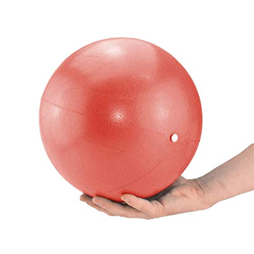 ATC Handels GmbH - Palla da pilates e yoga, 26 cm, blu, rosso, giallo, palla da ginnastica per yoga, pilates, palla terapeutica, Colore: rosso