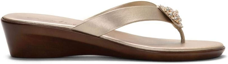 Italian shoesmakers Women's 4281V9 gold 7.5 M US