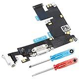 MMOBIEL Repuesto Conector Dock de Carga Compatible con iPhone 6 Plus (Blanco), Incl. 2 X Destornilladores