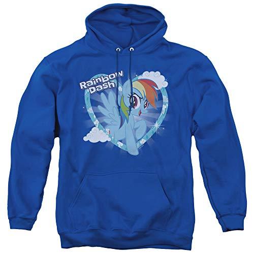 Unisex Adult Rainbow Dash Blue Hoodie, S to 3XL
