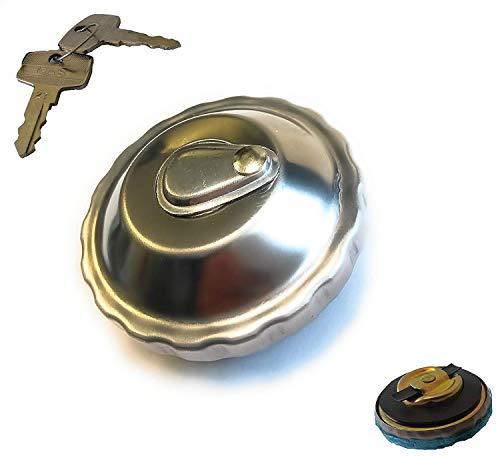 Tankdeckel abschließbar Chrom - Innen Ø 30-2 Schlüssel - für Tomos A3, A35 - Sachs - Zündapp (4-120)