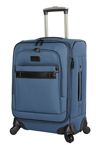 Nicole Miller New York Coralie Collection 20' Carry On Expandable Upright Luggage Spinner (20 in, Coralie Blue)