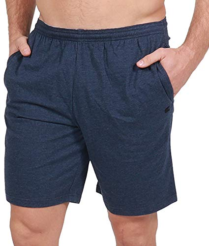 Colosseum Active Men's Down to Basics Jersey Cotton Shorts (Thunder, X-Large)