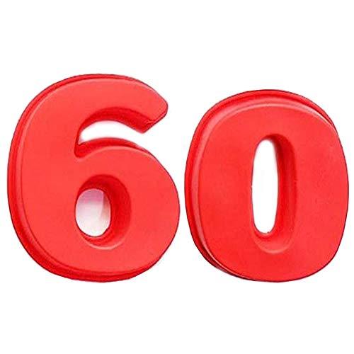 REYOK Kuchenform Silikon Zahlen Große Anzahl 60 Backform Backen Geburtstag Jubiläum Geburtstagstorte 10'',2pcs Kuchenform Backen Geburtstag Jubiläum